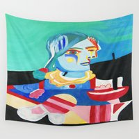 picasso Wall Tapestries featuring Picasso Remake 2000   by Artist_Fran_Doll