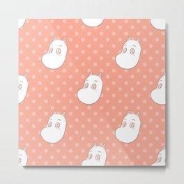 Moomin Dots Metal Print