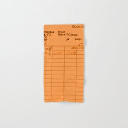 Library Card 797 Orange Hand & Bath Towel