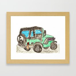 Jamie's Jeep Framed Art Print