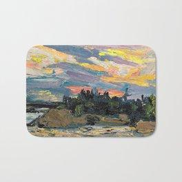 12,000pixel-500dpi - Tom Thomson - Sunset, Canoe Lake - Digital Remastered Edition Bath Mat