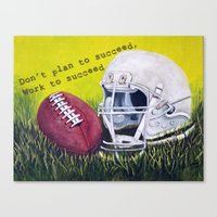 football Canvas Prints featuring Football by A Calcines