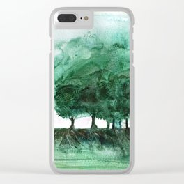 Exposed, abstract tree roots Clear iPhone Case