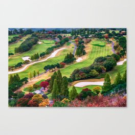 Autumn Golf Course Canvas Print