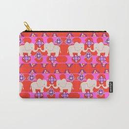 Kilim Elephant folk art Carry-All Pouch