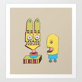 Freak Out Rabbit Art Print
