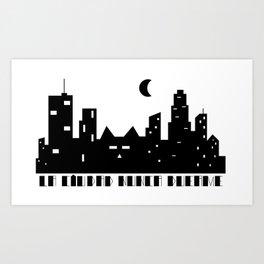 La ciudad nunca duerme Art Print