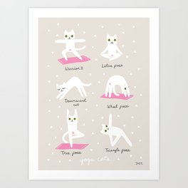 Yoga Cats Art Print