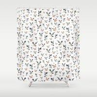 duck Shower Curtains featuring duck by Marina Eiro