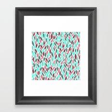 out leaves Framed Art Print