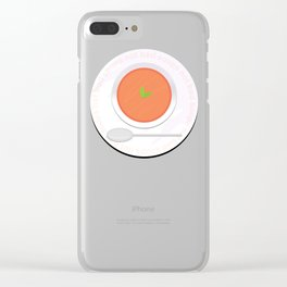 Soups not bad Clear iPhone Case