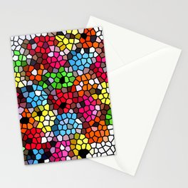 Cheerful stained glass Stationery Cards
