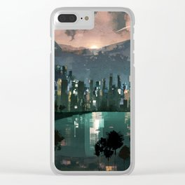 city.lights.5 Clear iPhone Case