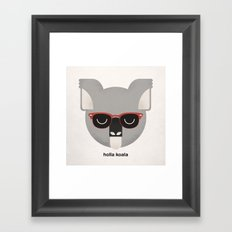 Holla Koala Framed Art Print