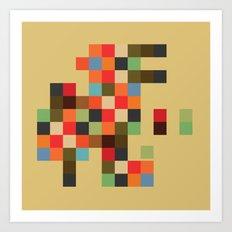 Mid Century Textile Series 1_3 Art Print