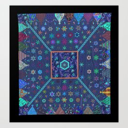 Dancing Dollies Revisited Quilt Art Print