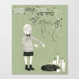 Every Little Thing She Does in green Canvas Print