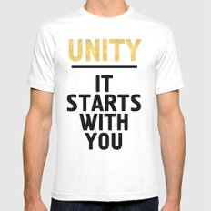 UNITY IT STARTS WITH YOU - Unite Quote White Mens Fitted Tee MEDIUM