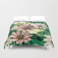 daisies Duvet Covers featuring Daisies by Loredana