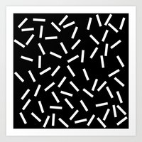 Sprinkles Black Art Print