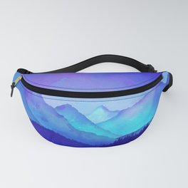 Cerulean Blue Mountains Fanny Pack
