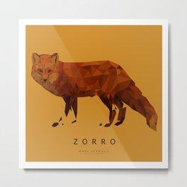 ZORRO Metal Print