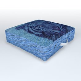 Tiger and Water Outdoor Floor Cushion