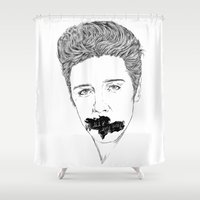 elvis presley Shower Curtains featuring ELVIS PRESLEY by Only Vector Store - Allan Rodrigo