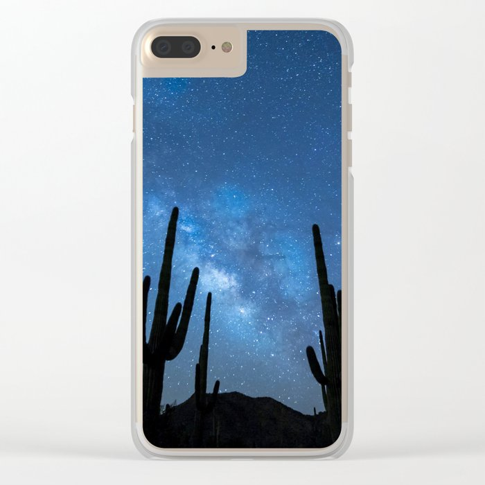 Milky Way, Dreams and Succulents Clear iPhone Case