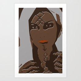 berber tattoed women Art Print