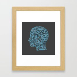 Head the industry Framed Art Print