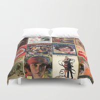 pulp Duvet Covers featuring pulp by Jeni Decker