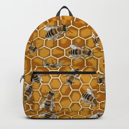 Honey Bee Beehive * Bumble Bees and Worker Bees Backpack
