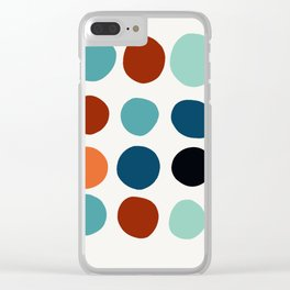Abstract dots pattern minimal design Clear iPhone Case
