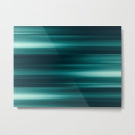 Abstract background blur motion green stripes Metal Print