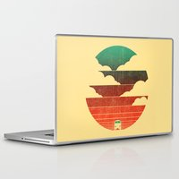 man Laptop & iPad Skins featuring Go West by Picomodi