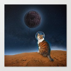 Meowter Space Canvas Print