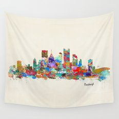 Pittsburgh Pennsylvania skyline Wall Tapestry