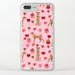 Irish Terrier dog breed valentines day love hearts pet gifts must have terriers Clear iPhone Case