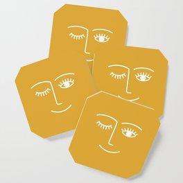 wink / mustard Coaster