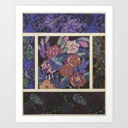 beautiful vintage floral pattern Art Print