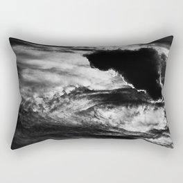 Black Cloud Rectangular Pillow
