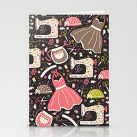 sewing Stationery Cards featuring Vintage Sewing by Poppy & Red