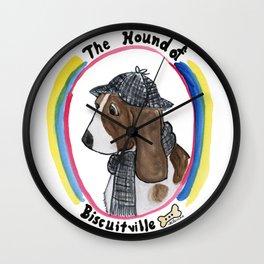 Hound of Biscuitville Wall Clock
