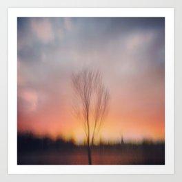 Sunset at Lake of the Isles Art Print