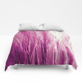Feather Grass Pink Comforters