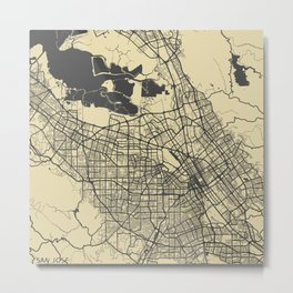 San Jose map Metal Print