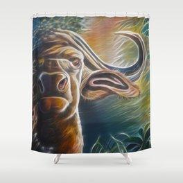 Alarmed Buffalo Shower Curtain