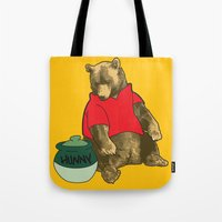 pooh Tote Bags featuring Pooh! by Pieterjan Arends