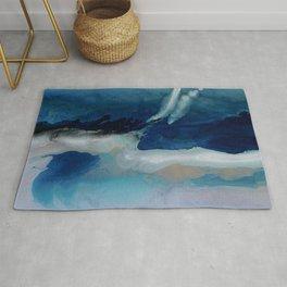 DEEP - Ocean art Resin painting, abstract seascape, coastal painting Rug